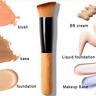 Makeup Brush Tool Flat Angled Wooden Liquid Foundation Powder Contour Bronzer UK