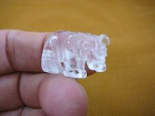 "Y-ELE-501) little 1"" Quartz Elephant FIGURINE carving elephants gem stone statue"