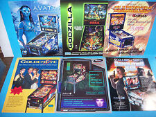 Lot Of (6) ORIGINAL PINBALL MACHINE Sales FLYERS Avatar Golden Eye RFM Set #12