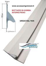 BOTTAZZO PROFILO PER GOMMONE GRIGIO IN GOMMA VUOTO 60X3,5X16mm RAL 7038