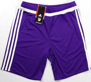 ADIDAS Youth MLS Match Shorts- L- NEW-purple ClimaLite soccer-team uniform short