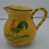 Home Large Rooster Pitcher Yellow 8 1/4""