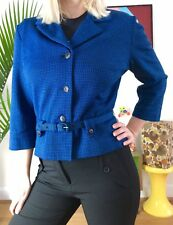 Vintage 1950s Will Houndstooth Blazer Jacket Small Mod 50s 60s Suit Jacket