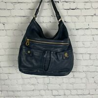 MARC BY MARC JACOBS Totally Turnlock  Faridah Hobo Dark Blue Leather Large
