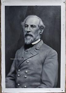 "Fine art Portrait of Confederate General Robert E. Lee oil on canvas 24""x36"""