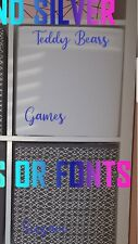NAMES FOR IKEA KALLAX CUBES STORAGE BEDROOM X 8 PERSONALISE CUSTOM FONTS COLOURS