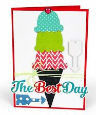 Sizzix Bigz Ice Cream Cone #2 die #660453 MSRP $19.99 by Echo Park Paper Co.