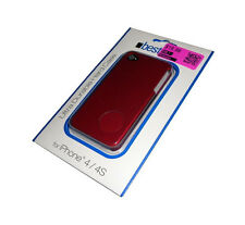 NEW BESTCASE RED RIGID PLASTIC APPLE IPHONE 4 4S CASE SUPER FAST SHIPPING