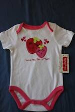 NEW Baby Girls 0 - 3 Months Bodysuit Creeper Outfit Infant 1 Piece Love Berry