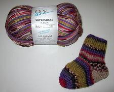 100g ball of ON LINE SUPERSOCKE RIO COLOR sock knitting yarn w ALOE VERA #1661