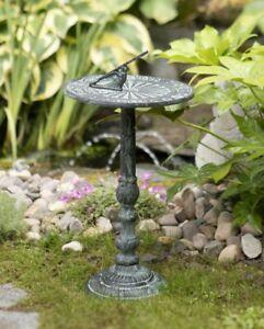Metal Sundial Decorative Vintage Sculpture Garden Ornate Ornament