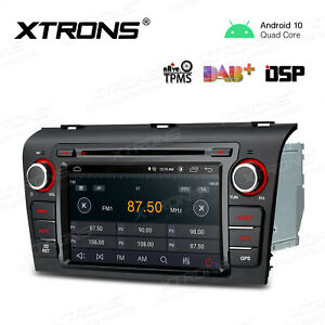 """7"""" Android 10.0 Car DAB Radio DVD GPS Stereo DSP Bluetooth for Mazda 3 2004-2009"""