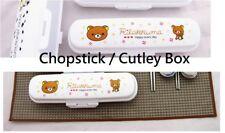 Rilakkuma Bear Kids Portable Children Chopstick / Cutley Tool Container Box Case
