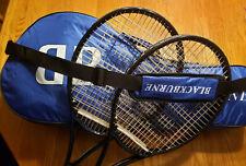 2 New Revolutionary Blackburne Double Strung 107 Tennis Racquets & Shoulder Bag