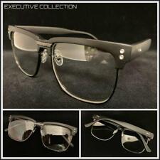 3d8b94a1ee2 Men s Classy Elegant Retro Style Clear Lens EYE GLASSES Square Matte Black  Frame