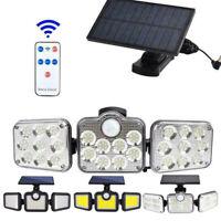 122 LED Solarleuchte Solarlampe mit Bewegungsmelder Außen Fluter Wandstrahler