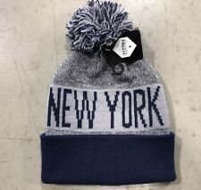 NWT - New York Yankees Team Color Pom pompom Beanie winter hat cap FREE S/H !!