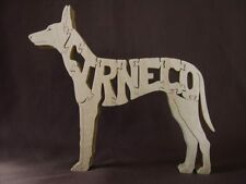 Greyhound Dog Wooden Amish Scroll Saw Toy Puzzle