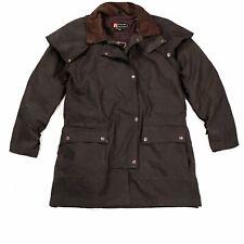 Kakadu Traders Australia Workhorse Oilskin Drovers Jacket in Brown