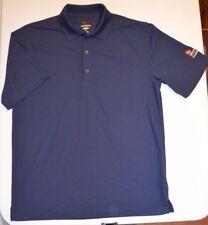 Greg Norman Blue Play Dry Shark Logo Performance s/s polo (M) Golf Free Shipping