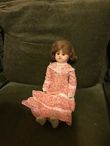 """16"""" Tin Head & Leather Body Doll:  Celluloid Hands & Feet: Jointed"""