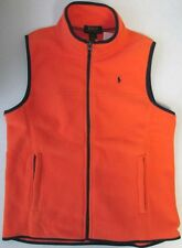 NWT Polo Ralph Lauren Kids Boys Children Fleece Vest Orange  XL (18-20)