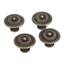 4X Dekorative Vintage Rund Moebelknoepfe Bronze Schranktuer Schublade DE