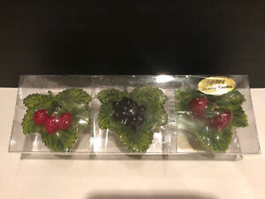 Set Of 3 Christmas Strawberry Blueberry Raspberry Floating Candles