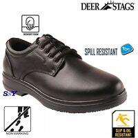 Black Service Shoes Non-Marking Slip & Oil Resistant Memory Foam Insole Shoe wbu