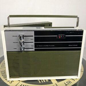 Vintage K-Mart Portable 8 Track Tape Player Handheld Green Mod Retro PARTS