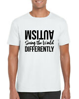 Autism Seeing the Wolrd Differently T-Shirt,Awareness Egotist Gifts Adult Top