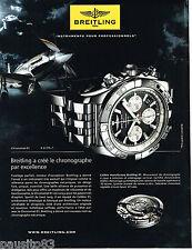 PUBLICITE ADVERTISING 065  2011  BREITLING  montre CHRONOMAT 01