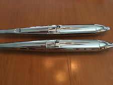 VINTAGE BMW R50-R60/2 NEW PAIR BEAUTIFUL SEAMED CHROME MUFFLERS