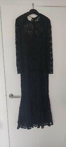 Frank Usher - Black Lace Beaded Vintage dress (Size 12)