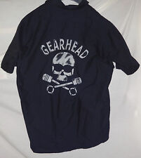 GEARHEAD Mens Custom Black Work Shirt sz XL