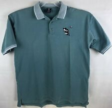 Vintage 1995 Warner Bros Angry Taz Golf Polo Shirt Size XL Looney Tunes Teal