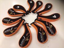 11 new King Cobra black / orange GOLF CLUB IRON HEAD COVERS HEADCOVERS
