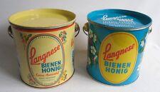 2 x Blechdose - Langnese Bienen Honig - Blecheimer -  Um 1960 - Honey Tin Cans