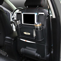 Universal Car Seat Back Bag Folding Organizer Bags Pad Drink Storage Pocket