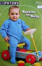Knit and Crochet Patterns for Baby's Bonnet, Hooded Jacket, Bunting, Sweater