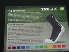TRUsox 3.0 New with defects Soccer Athletic Sock, White/Black SM MD, LG Adult