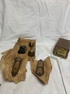 vintage sargent brass lock set #7