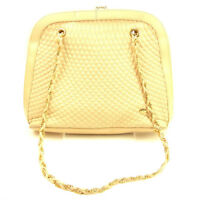 Bally Shoulder bag Beige Gold Woman Authentic Used T449