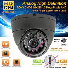 Analog HD AHD 960P 1.3MP SONY Exmor CMOS IR NightVision Outdoor CCTV Dome Camera
