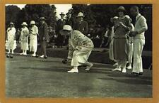 Postcard Nostalgia August 1924 Bowls at St Fagans Plymouth Reproduction Card