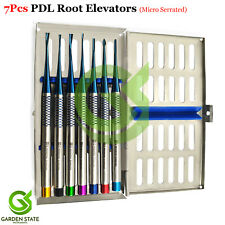 7PCS Periodontal Ligaments Cutting Periotome PDL Luxation Elevators + Cassette