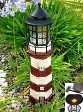 Solar Powered Lighthouse Light Lantern Art Ornament Garden Sculpture Yard Lawn ""