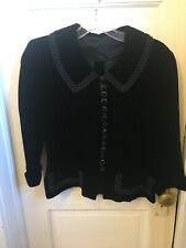 Vintage 1960S Black Velvet Mod Goth Top Size S