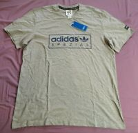 Adidas SPEZIAL Men's Grey McLoughlin Logo-Print T-Shirt Size XL New With Tags