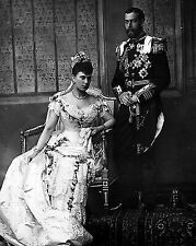 8x10 Photo Wedding Portrait of Future King George V & Princess Mary of Teck